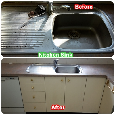 Kitchen Sink Cleaning