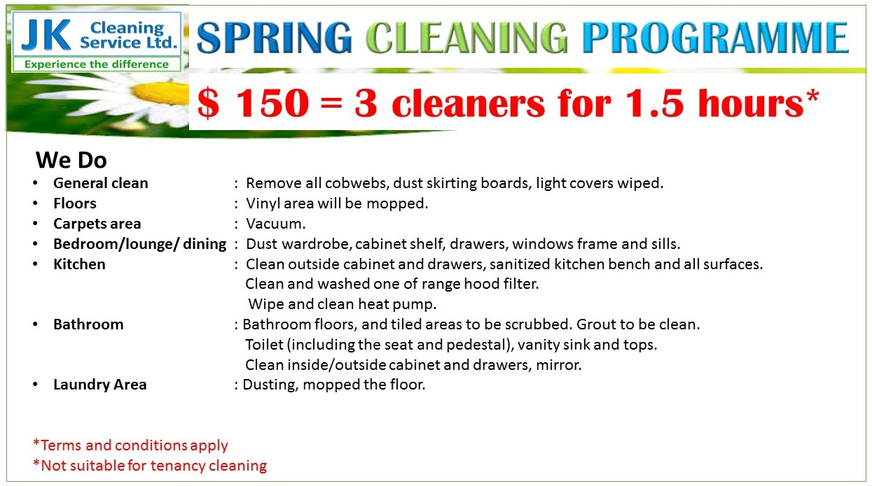 Special Offers Spring Cleaning Programme